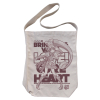 Cure Heart Shoulder Tote Bag (Natural)