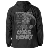 Cure Heart Hooded Windbreaker (Black x White)